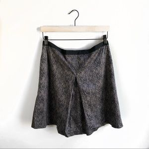 Ann Taylor Snakeskin Kick Pleat Skirt.